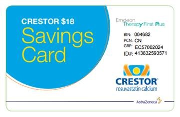 Crestor Coupon Card